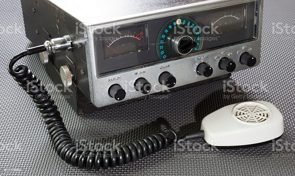 Emergency two way radio stock photo