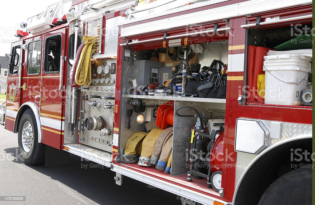 Fire truck with all of is equipment.See more in my portfolio