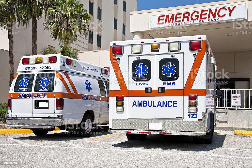 Emergency Vehicles stock photo