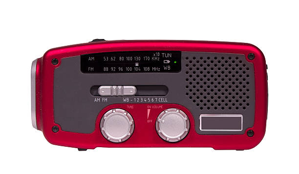 emergency weather radio stock photo