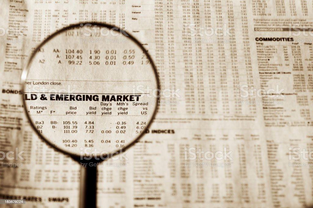 Emerging market stock photo