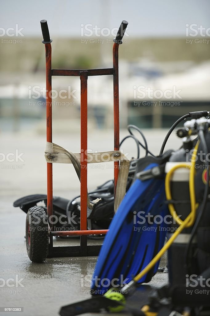 Emersion equipment royalty-free stock photo