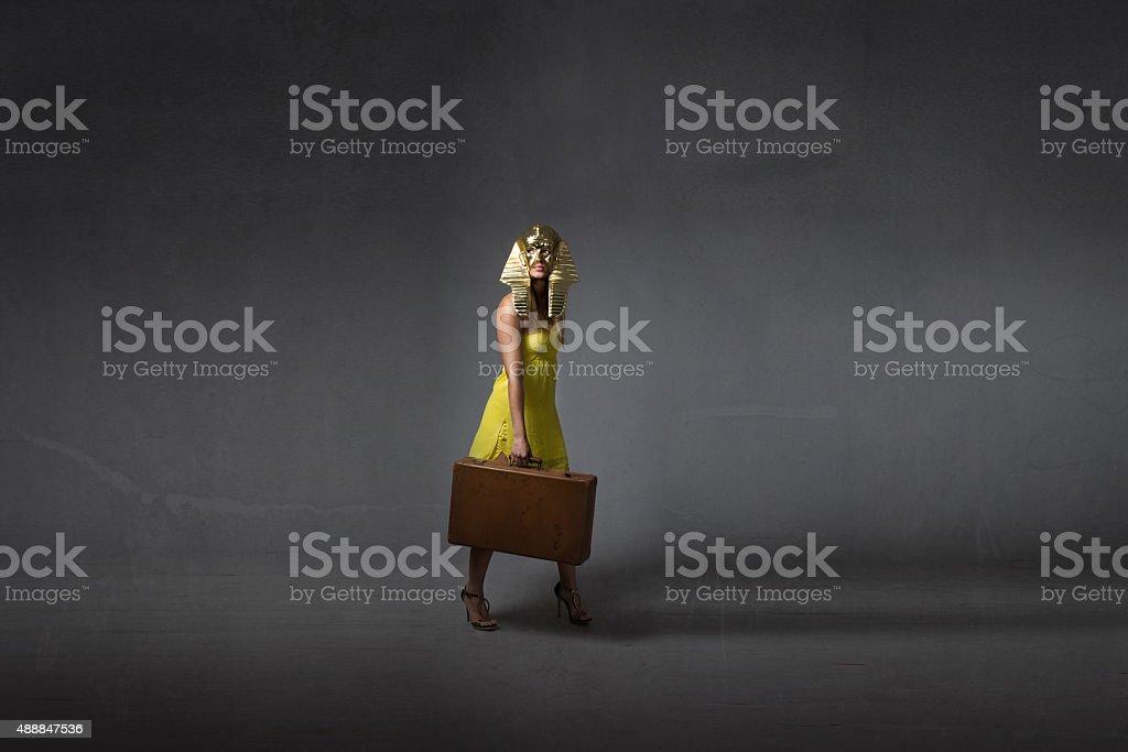 emigration concept for egyptian legend stock photo
