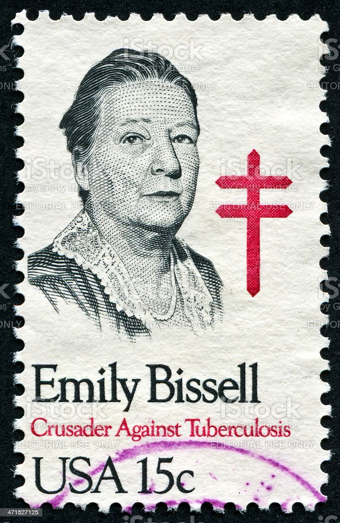 Emily Bissell Stamp royalty-free stock photo