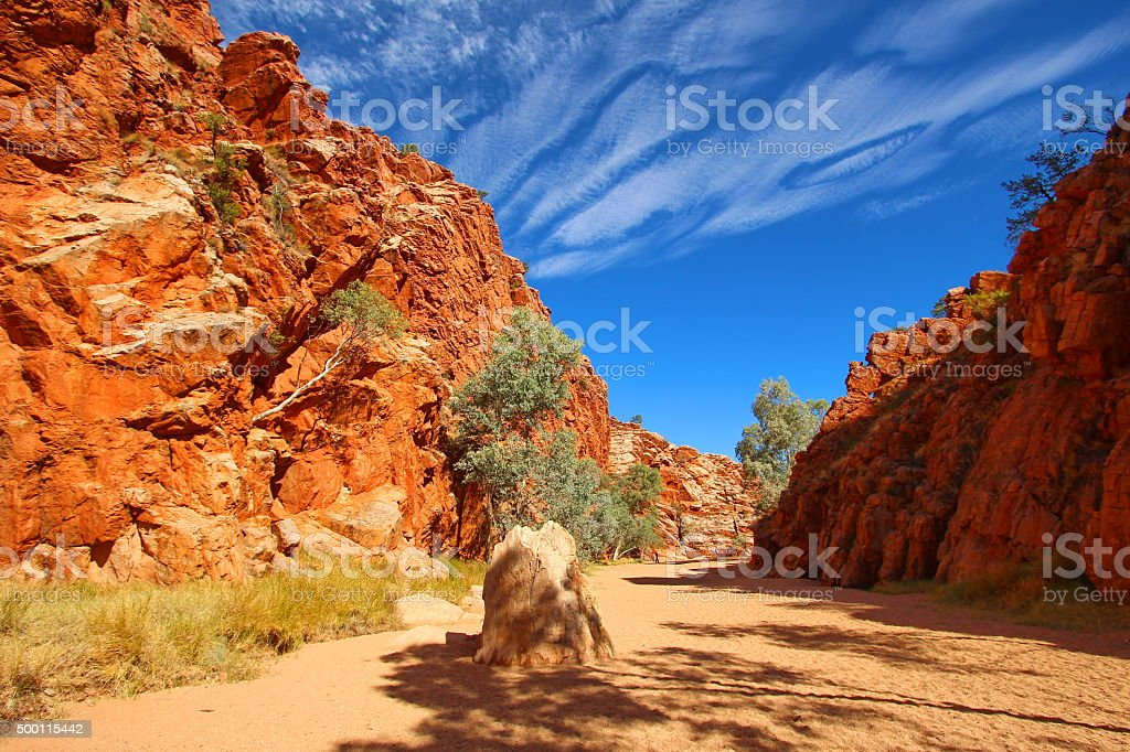 Emily Gap, MacDonnell Ranges, Australia stock photo