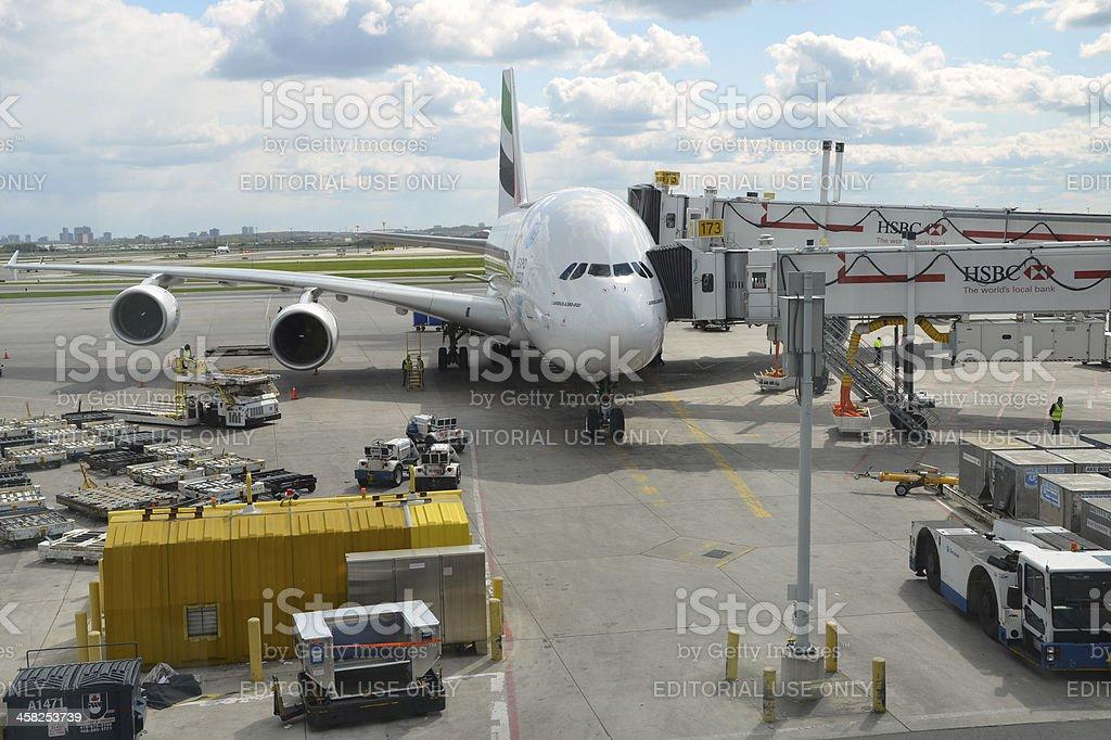 Emirates A 380 royalty-free stock photo