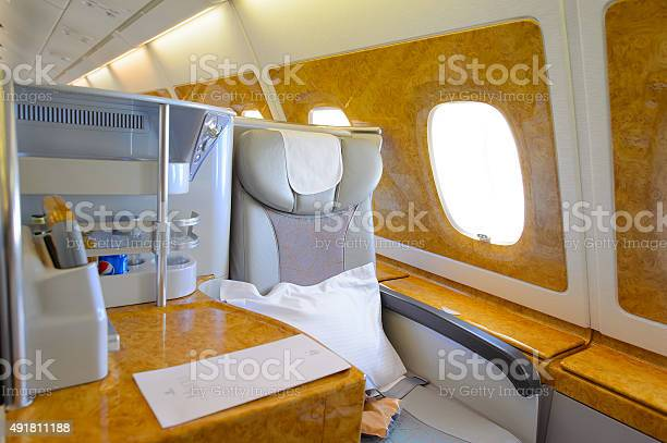 Emirates Airbus A380 Business Class Interior Stock Photo Download Image Now Istock