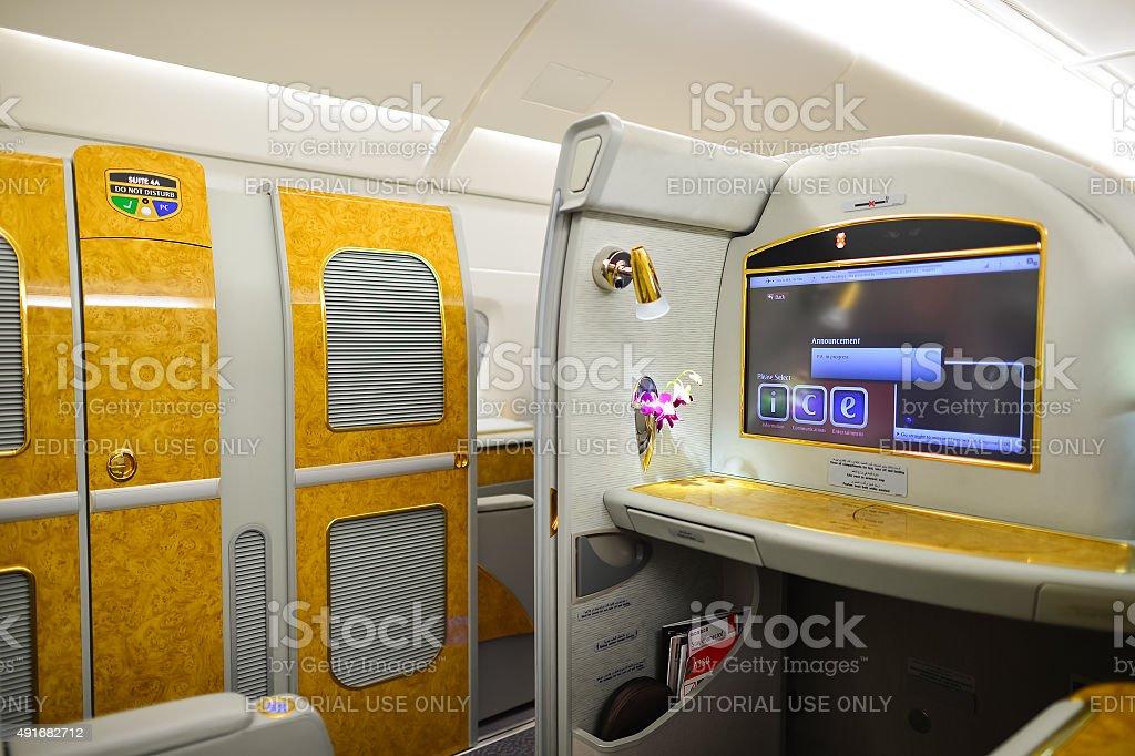 Emirates Airbus A380 Interior Stock Photo More Pictures Of 2015