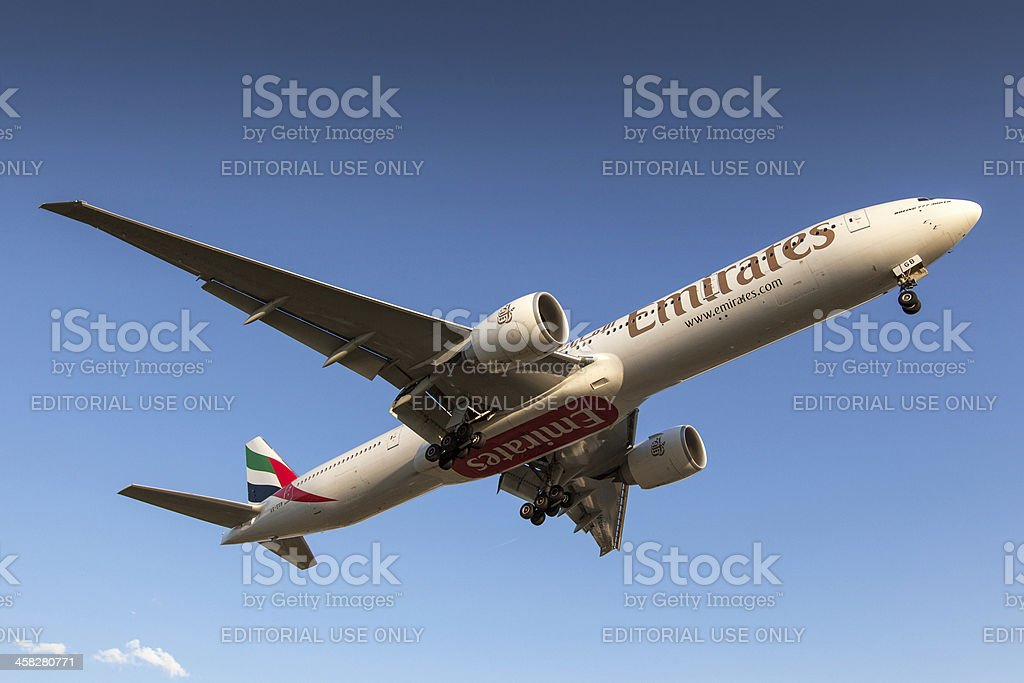 Emirates Airline Boeing 777-300ER royalty-free stock photo