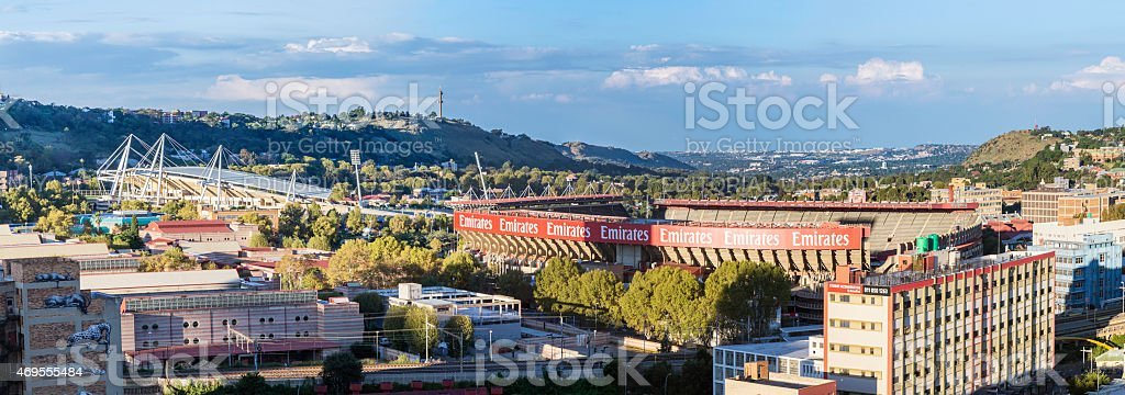 Emirates and Athletic Stadiums in Johannesburg stock photo