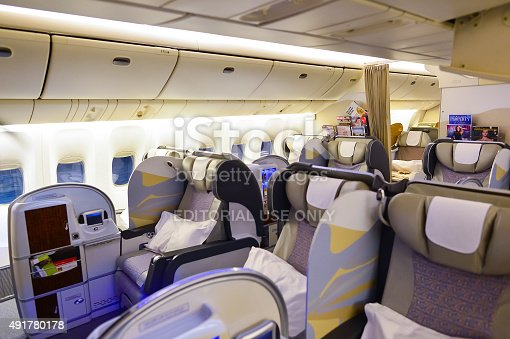 Emirates first class boeing777 interior stock photo istock for Boeing 777 interior