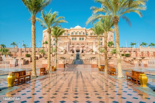 Walkway to the Emirates Palace in Abu Dhabi, United Arab Emirates
