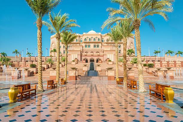 emirates дворец абу-даби оаэ - abu dhabi стоковые фото и изображения