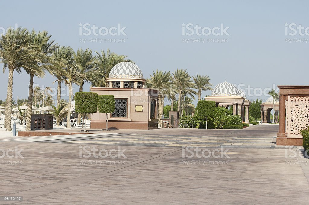 Emirates Palace. Day royalty-free stock photo