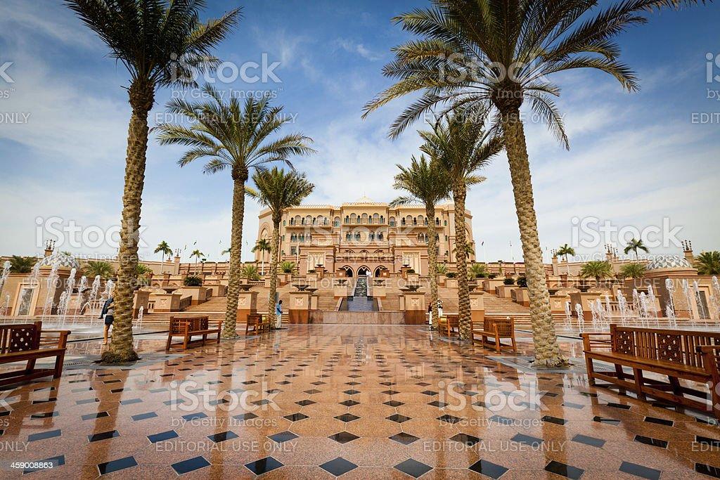 Emirates Palace Hotel in Abu Dhabi royalty-free stock photo
