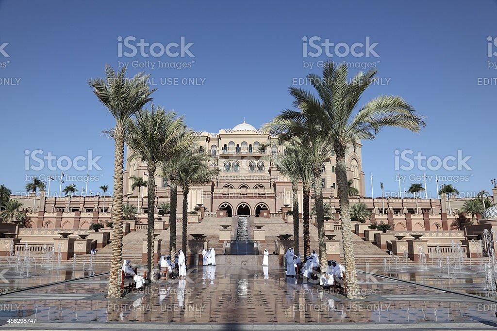 Emirates Palace in Abu Dhabi royalty-free stock photo