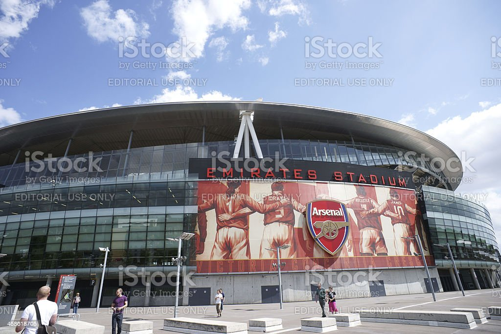 Emirates Stadium  in sunny day stock photo