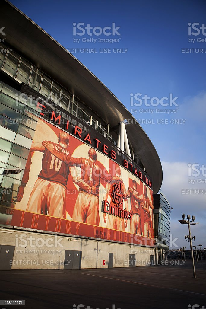 Emirates Stadium, North London. stock photo