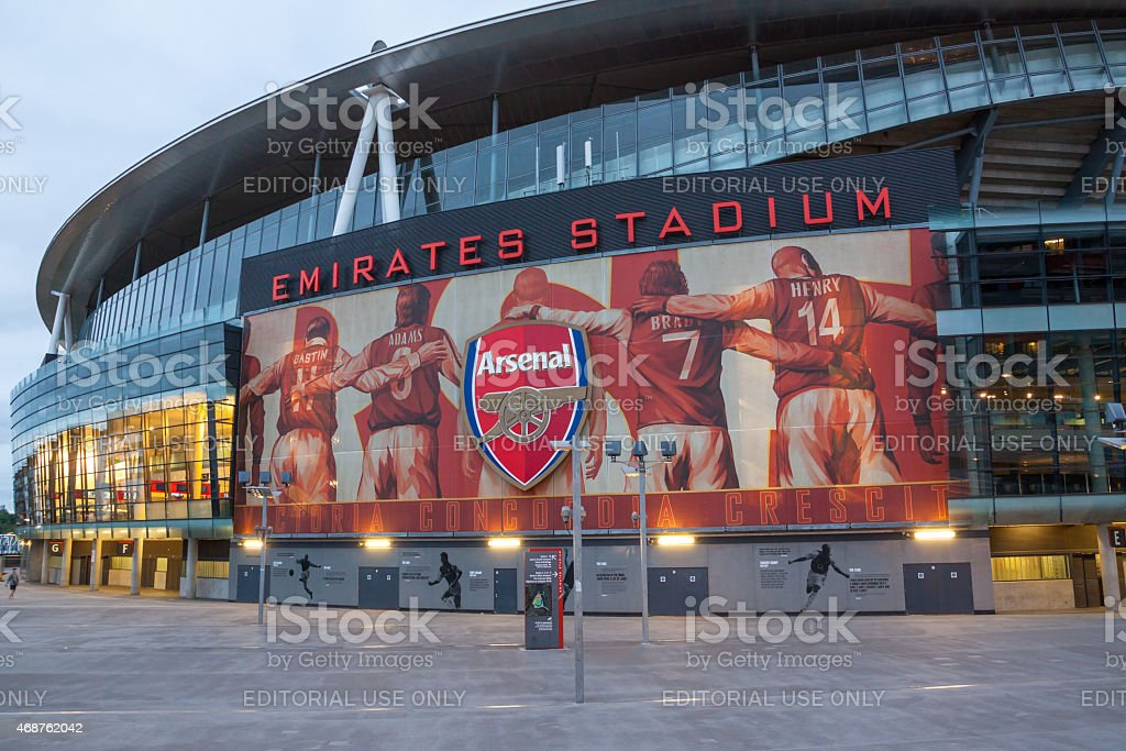 Emirates Stadium stock photo