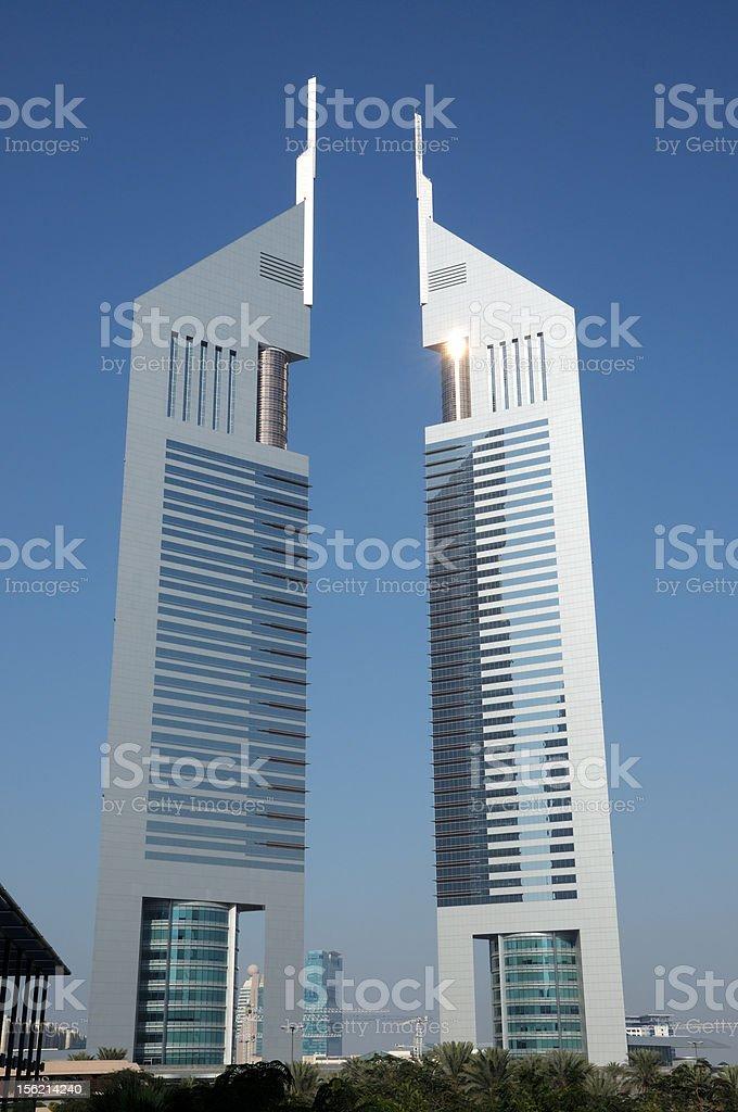 Emirates Towers, Dubai stock photo