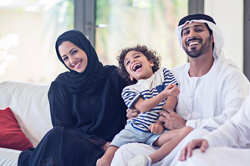 Emirati Familien Portrait Stockfoto und mehr Bilder von 2015