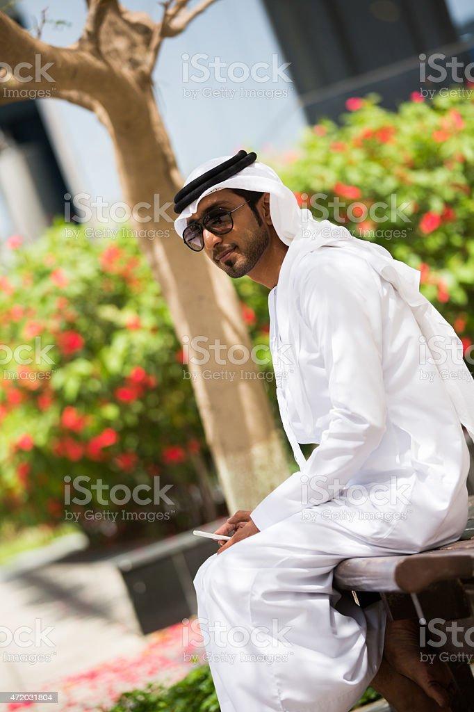Emirati man portrait stock photo