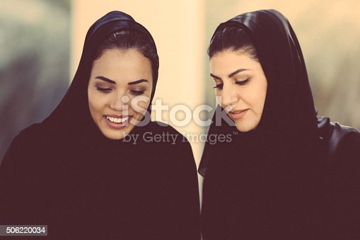 Two Arab Women. Image taken during iStockalypse 2015, Dubai, United Arab Emirates