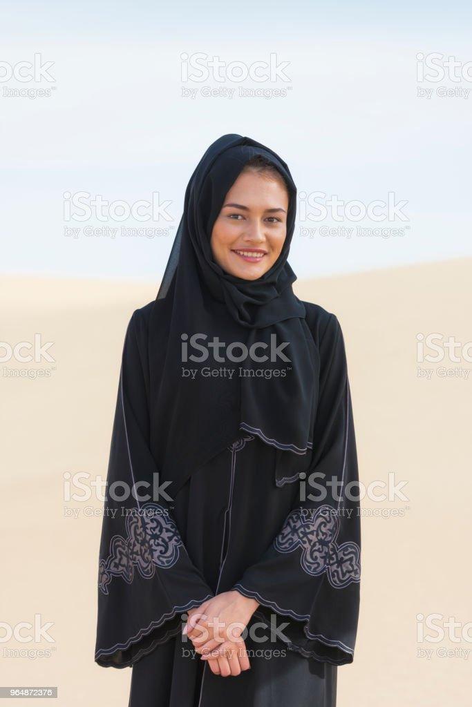 Emirati woman portrait royalty-free stock photo