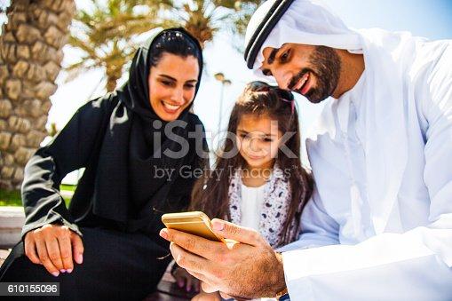 472869308 istock photo Emirati young family in Dubai enjoying weekend 610155096