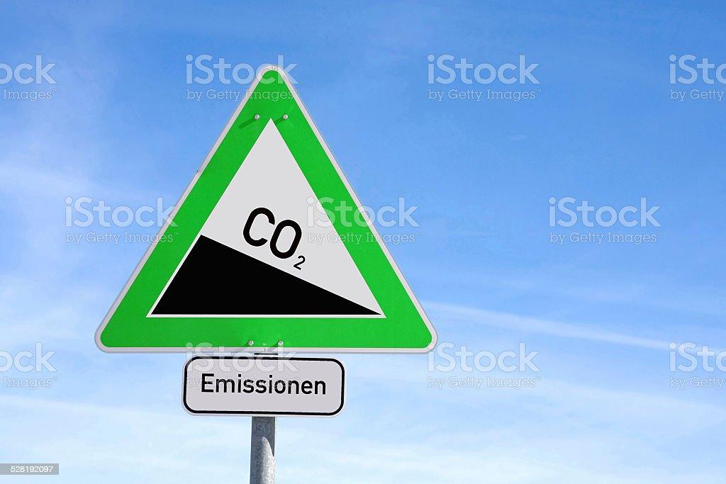 Las emisiones - foto de stock