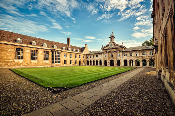 emmanuel college - cambridge university stock photos and pictures