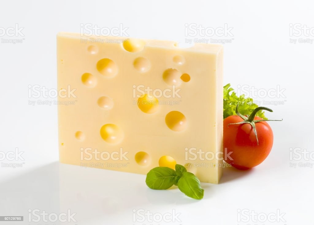 Emmental Cheese and tomato royalty-free stock photo