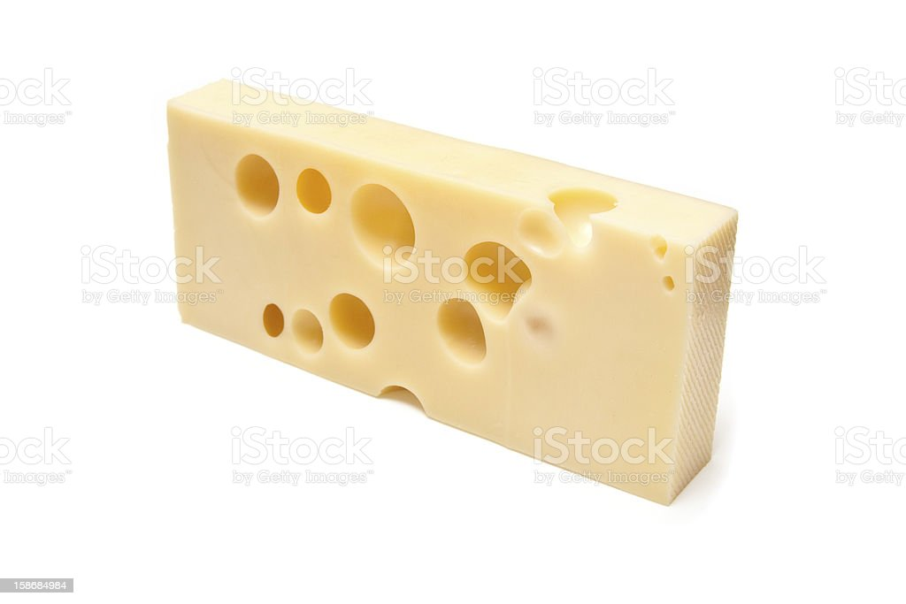 Emmental Swiss cheese. stock photo
