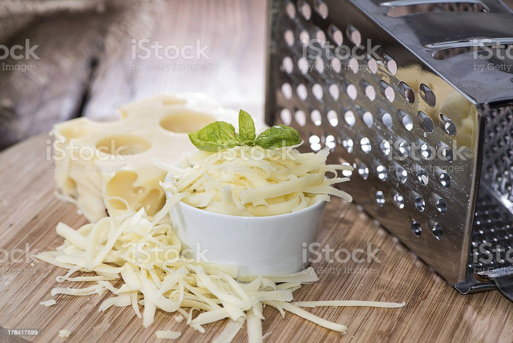Emmentaler with Cheese Grater stock photo