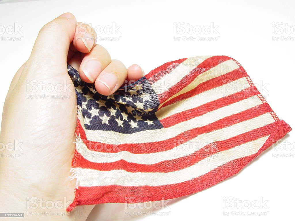 Emo flag series - (Support/Clinging to Hope) royalty-free stock photo