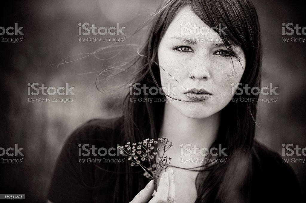 Black and white emo girl