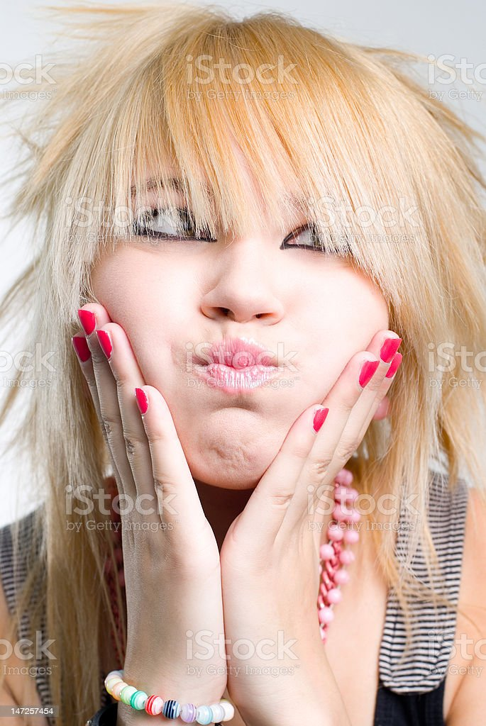 Emo girl portrait royalty-free stock photo