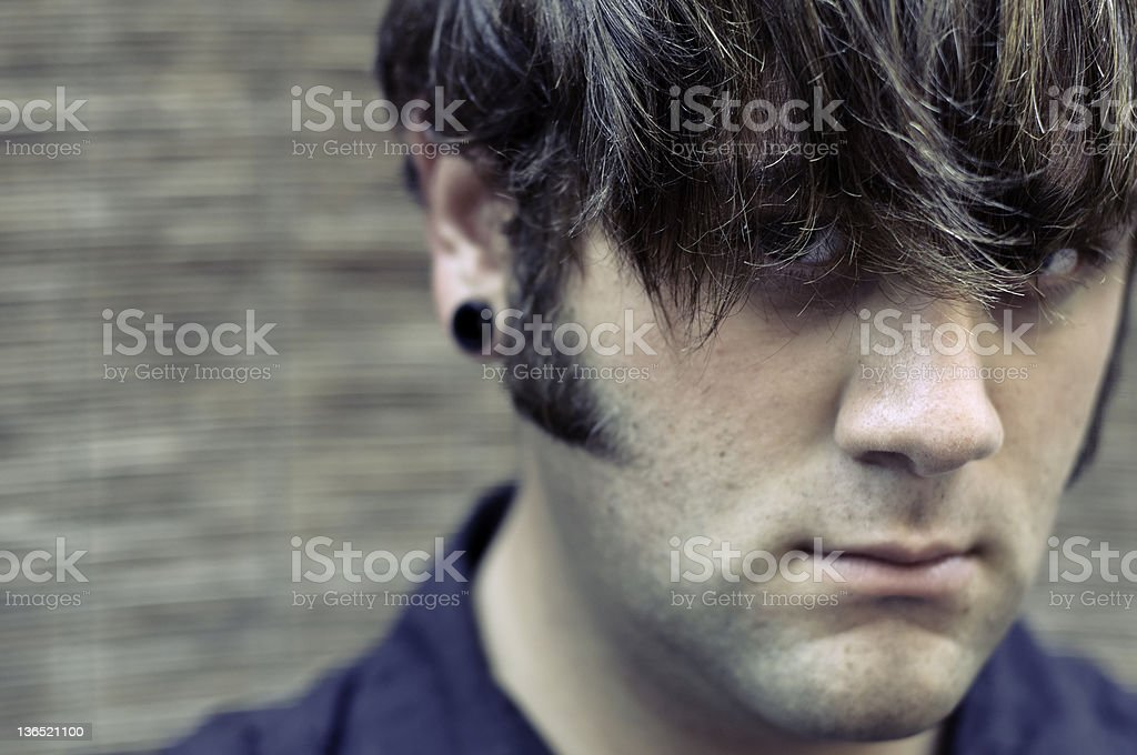 Emo Hipster Portrait stock photo