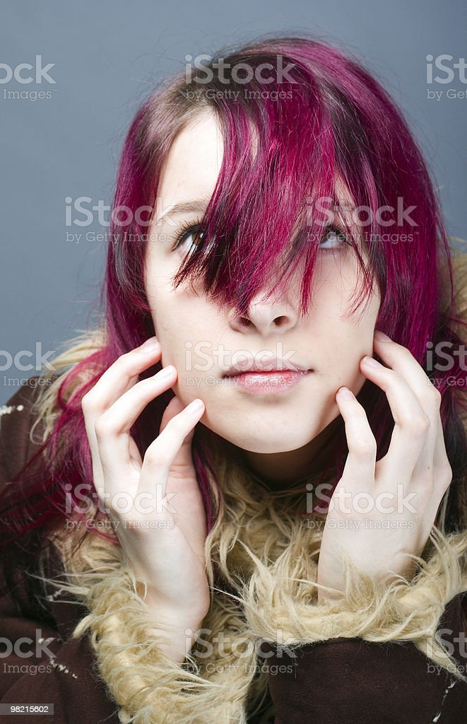 Emo look girl royalty-free stock photo