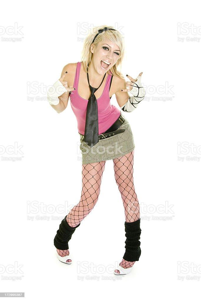 Emo style girl isolated on white royalty-free stock photo