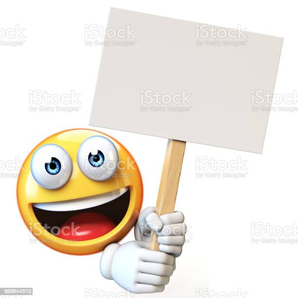 Emoji holding blank board isolated on white background emoticon 3d picture id868644510?b=1&k=6&m=868644510&s=612x612&h=8fcodzttfygjb5xhtwrty0jfmy3sdpwcbi4ngptswsa=