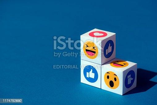 istock Emoji Symbols from Facebook Messenger 1174752692