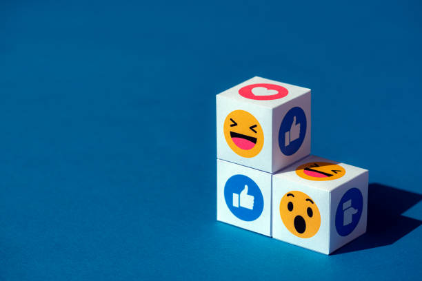 Emoji Symbols from Facebook Messenger stock photo
