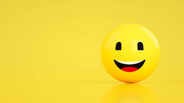 3D Emoji with Happy Face - foto stock
