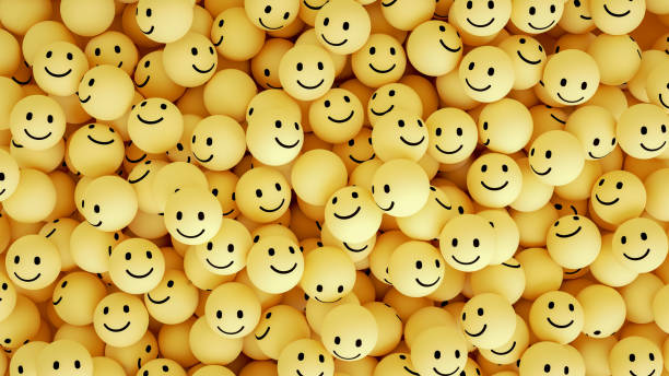 3D Emoji with Smiley Face - foto stock