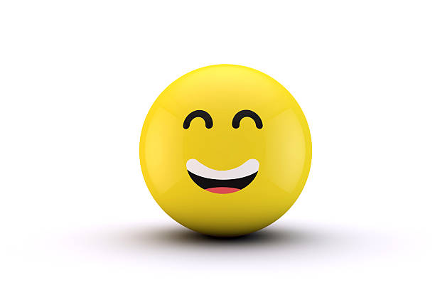 3D emoji yellow character ball - Photo