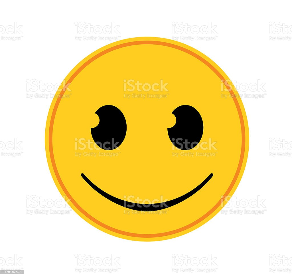 Emoticon - Happy stock photo