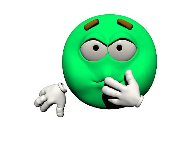emoticon sick - 3d render stock photo