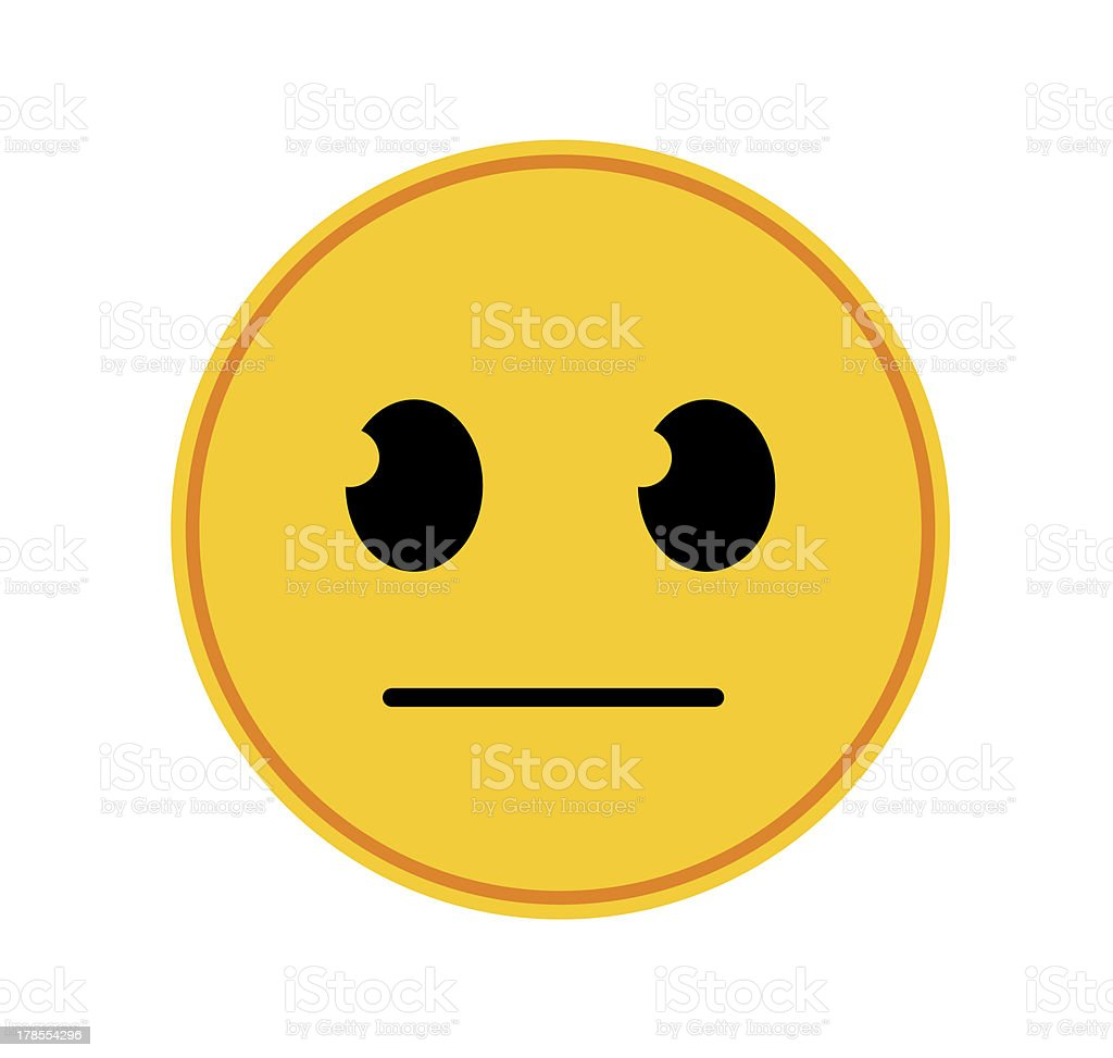 Emoticon Straight Face Stock Photo More Pictures Of