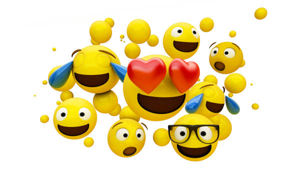 emoticons group isolated - emoji foto e immagini stock